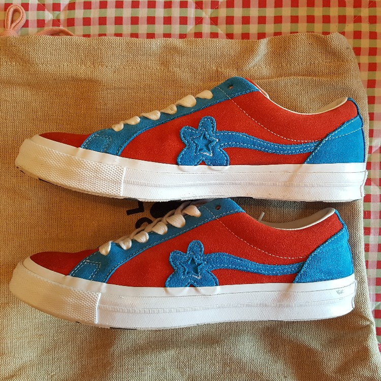 Golf Le Fleur Converse Golf Wang Red And Blue Spiderman Size 8 5 Uk