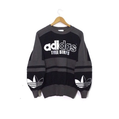 Adidas Sweatshirt Embroidery Big Spellout Logo