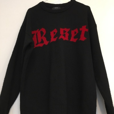 Sweater With Red Writing