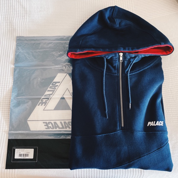 Palace Metric Hoodie Navy & Red