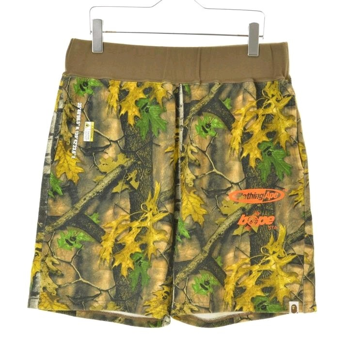 Bape Shorts Multicolor Woven Overall Pattern