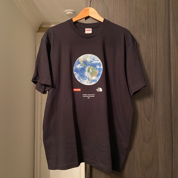 Supreme X The North Face One World Tee Black