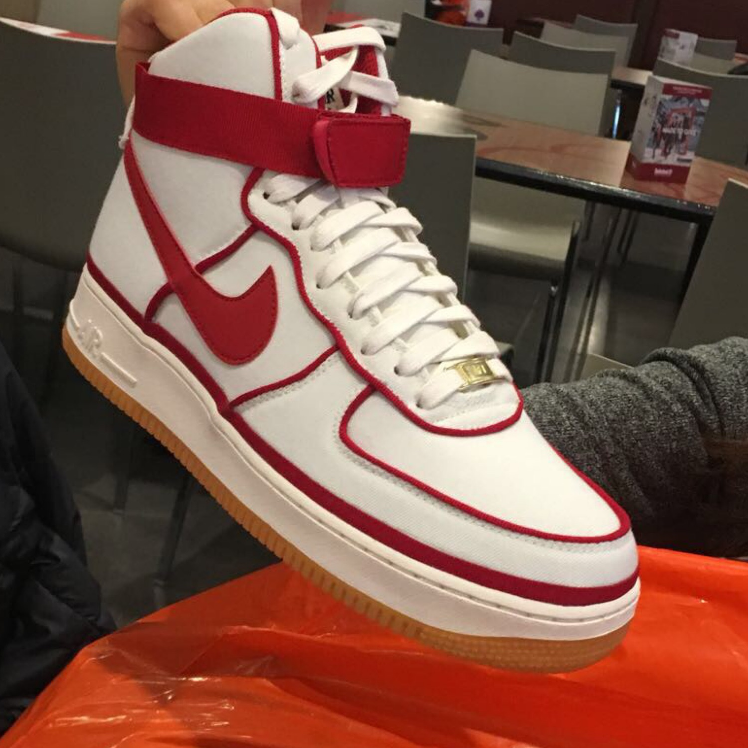 nike air force high tops red