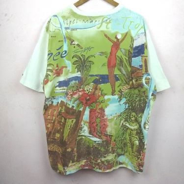 Vintage RARE TOMMY HILFIGER FULL PRINT TSHIRT..BIG SIZE!!!..Very excellent condition