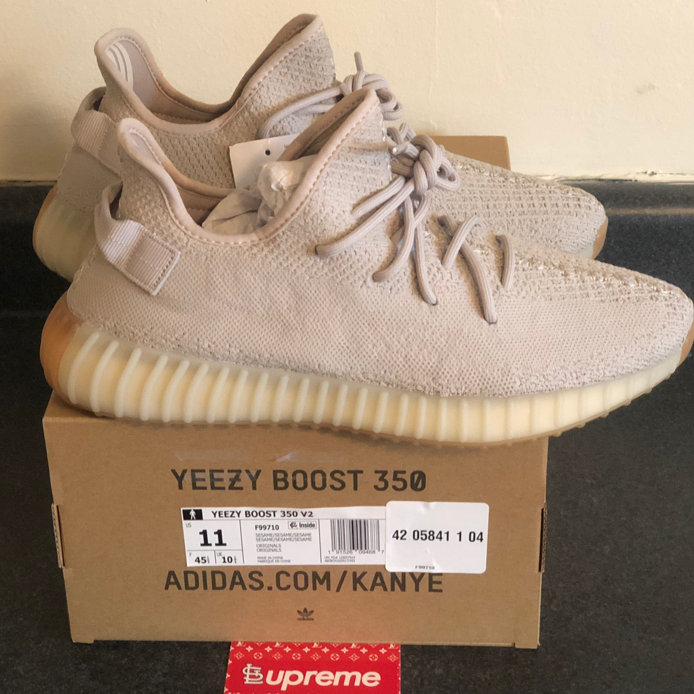 huge selection of 015b8 b6f21 New Dswt Adidas Yeezy Boost 350 V2 Sesame