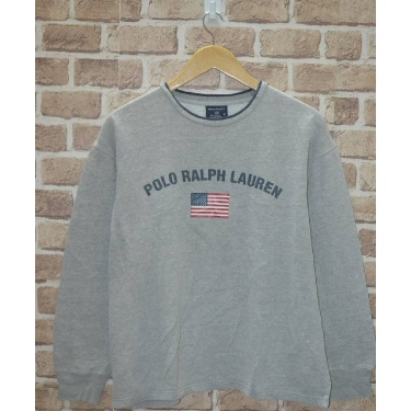 Vintage Polo Ralph Lauren sport usa flag grey sweatshirt