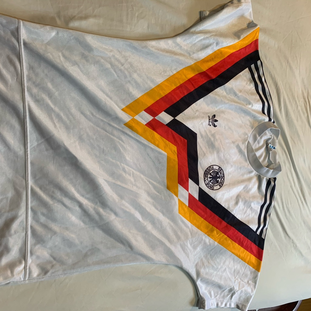 Adidas Germany football shrt 80s Made In West Germ