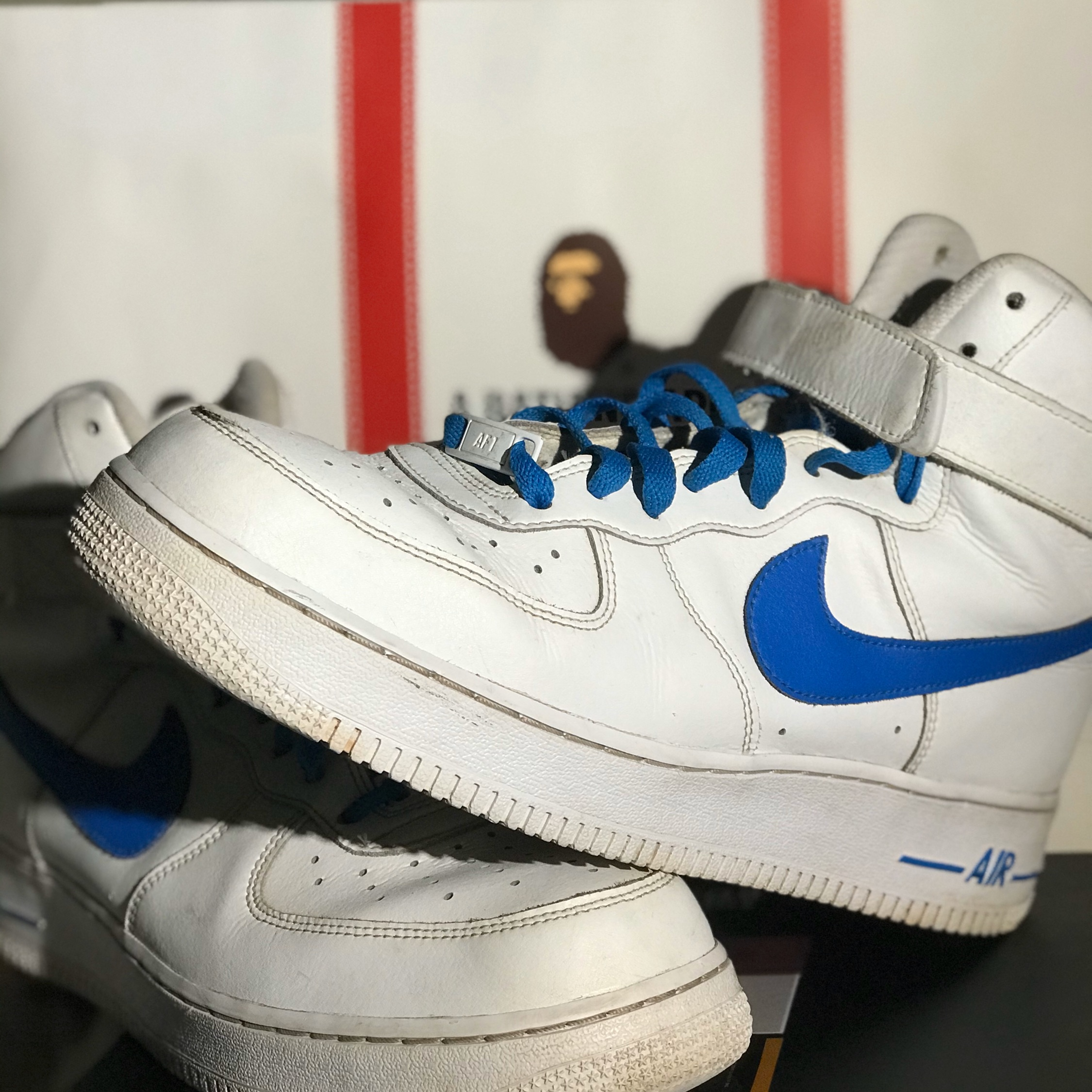 Air Force 1 High Custom Blue Wf Mens 9 5