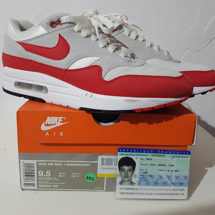 cheapest price new products reasonably priced NIKE AIR MAX OG RED ANNIVERSARY 9.5 US