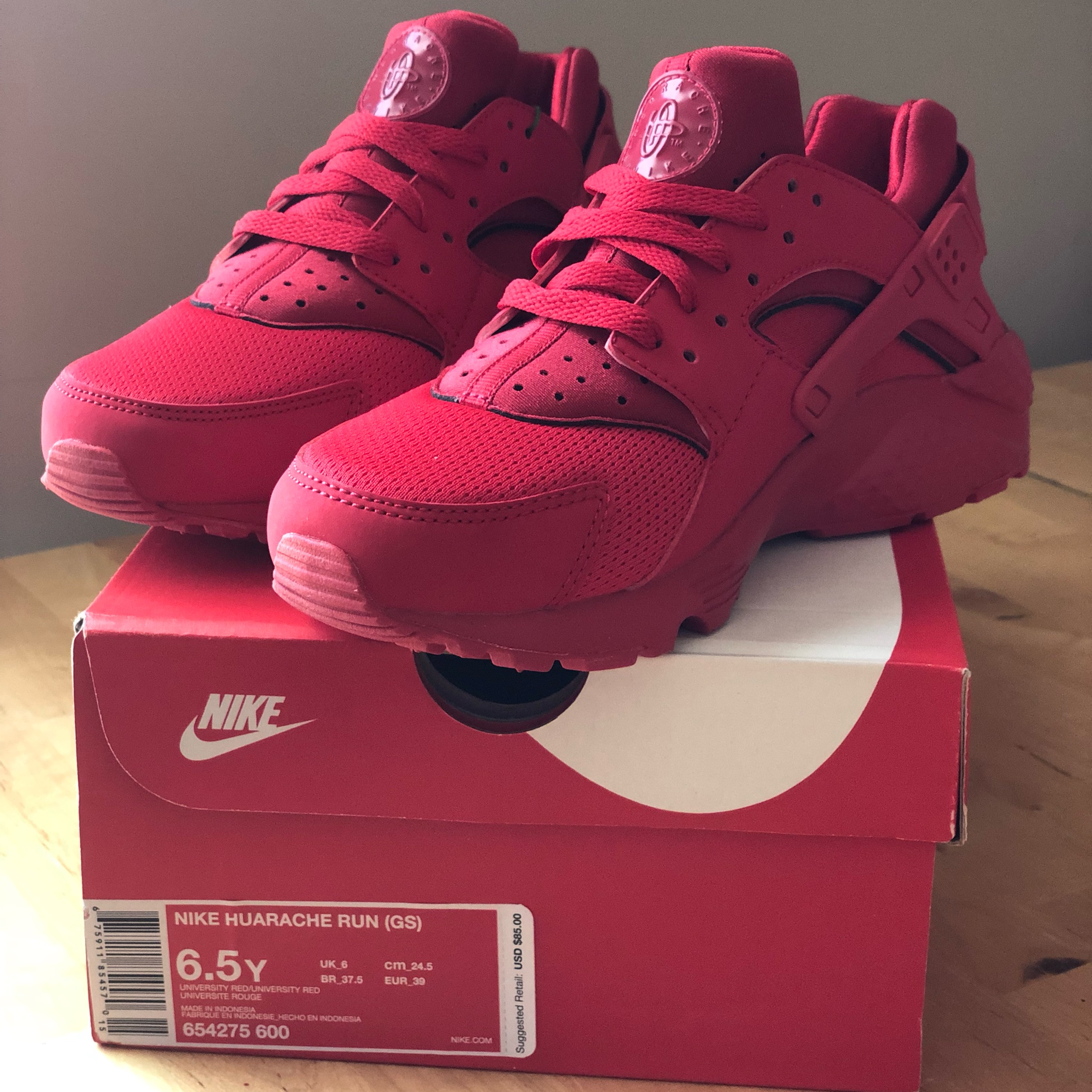 Nike Huaraches University Red (Gs) 6.5 Y
