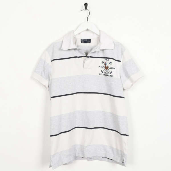 Vintage RALPH LAUREN Small Logo Short Sleeve Rugby Polo Shirt Top | Small S