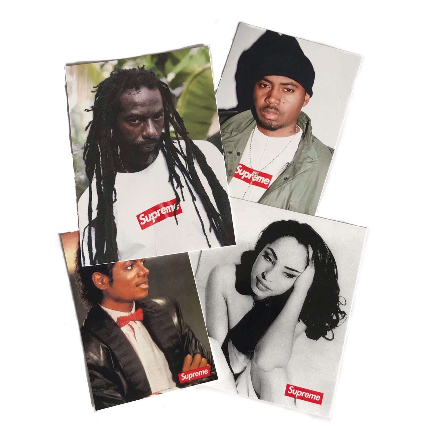 Supreme Photo Sticker Pack (Nas, Sade, Killer & Mj