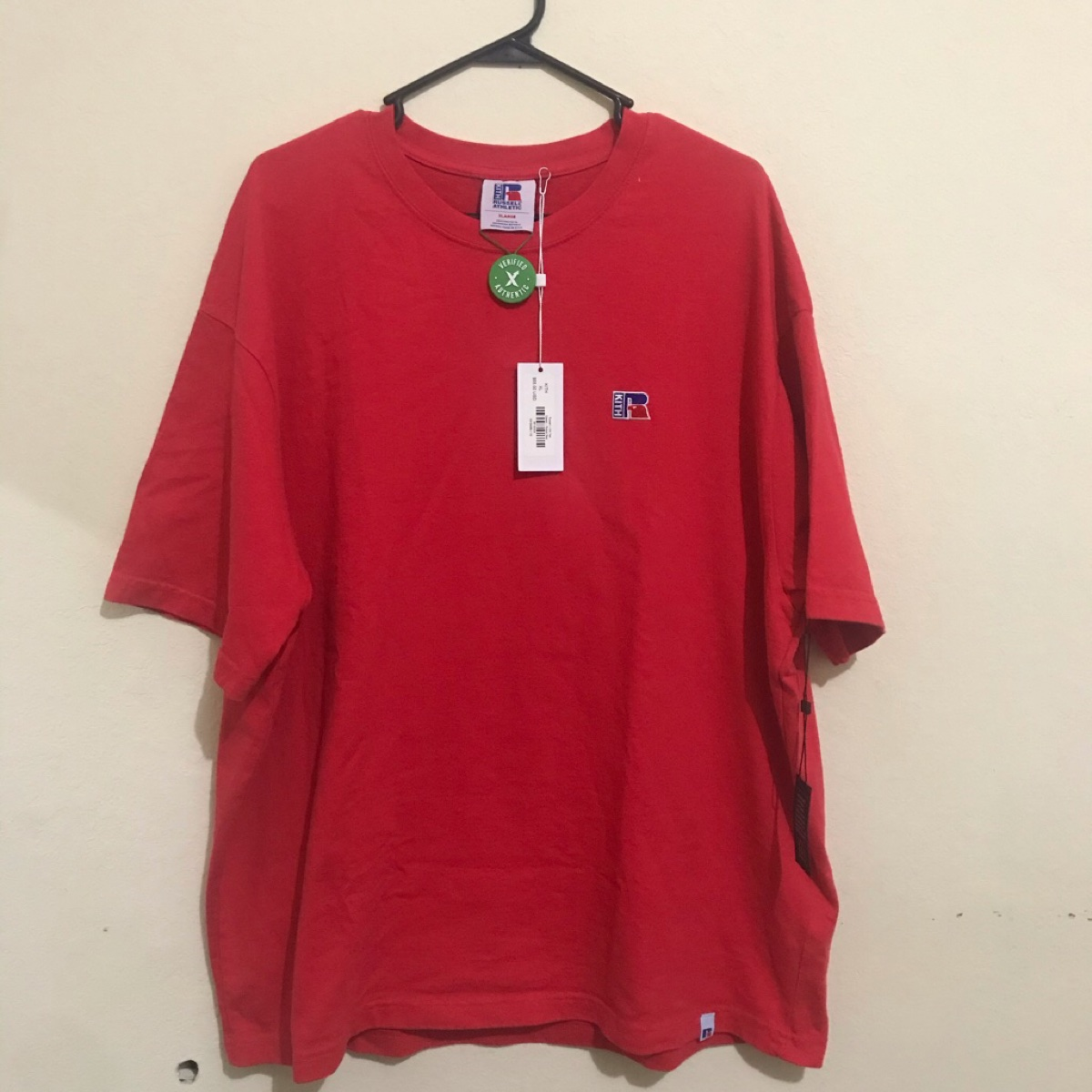 Kith x Russell Athletic Classic Tee Ribbon Red