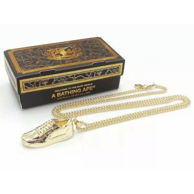 A Bathing Ape Bapesta Gold Necklace