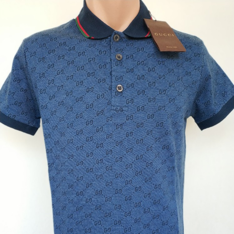 Brand new Gucci Polo T shirt,100% AUTH,All Sizes,Made in Italy,Short  Sleeve,Color Blue,Free shipping worldwide,10 days delivery #gucci #polo  #tshirt