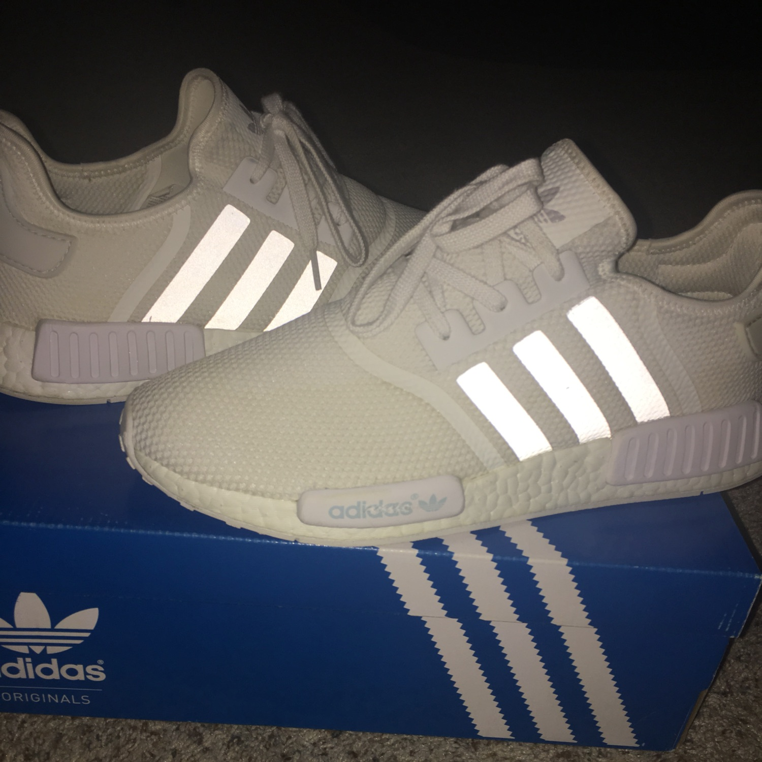 save off 16703 18cd5 Triple White Nmd's