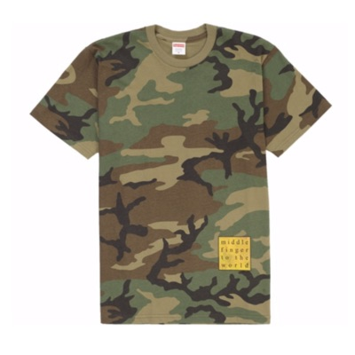 Supreme Middle Finger To The World Tee Camo