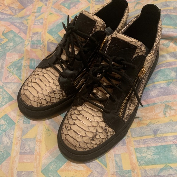 Giuseppe Snakeskin Low Top Trainers Size 9