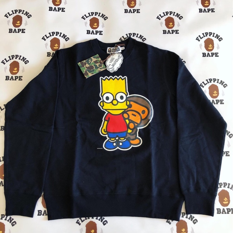 BAPE X THE SIMPSONS MILO CREWNECK