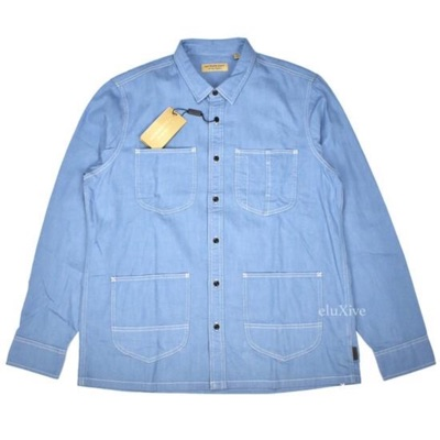 Burberry Blue Chambray Work Shirt Nwt
