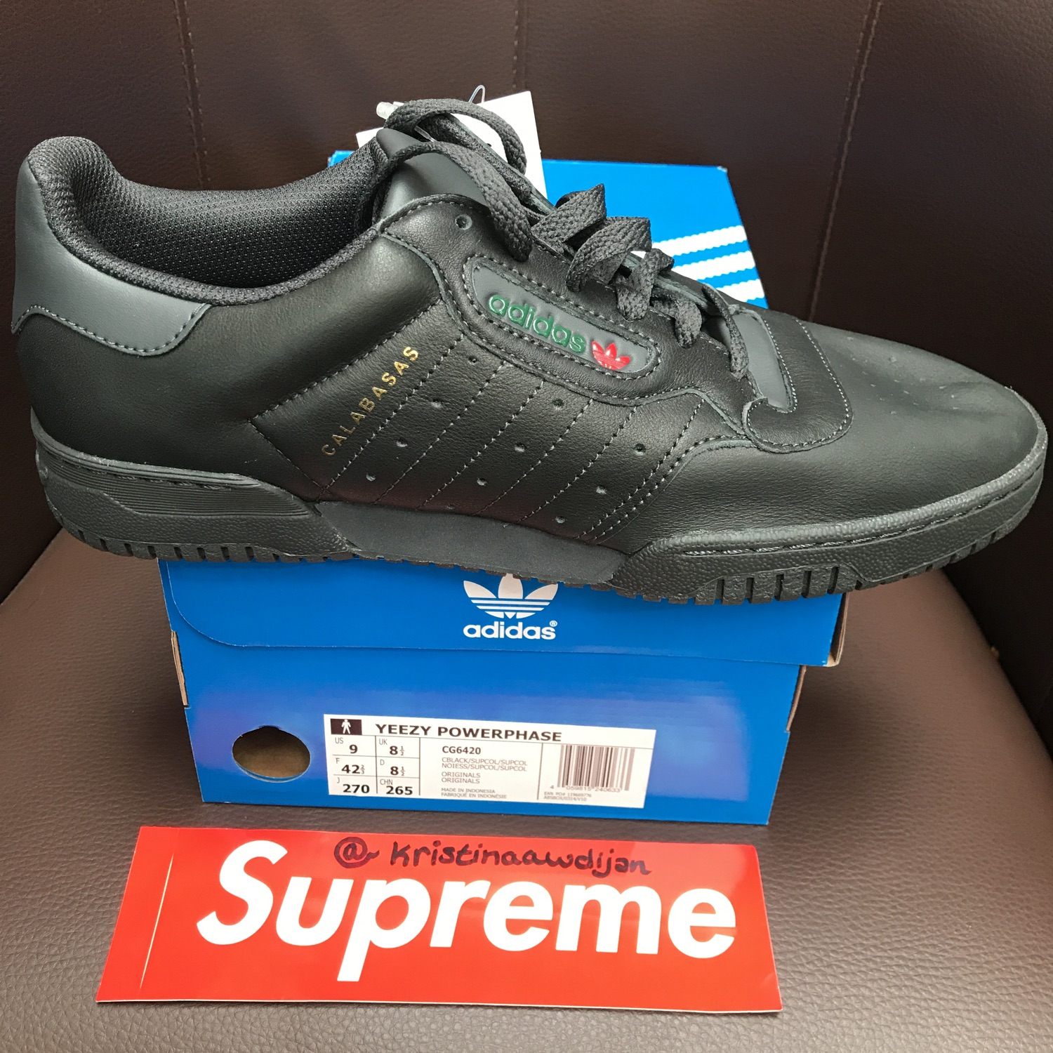 Adidas Yeezy Powerphase Eu 42 23 Uk 8.5 Us 9