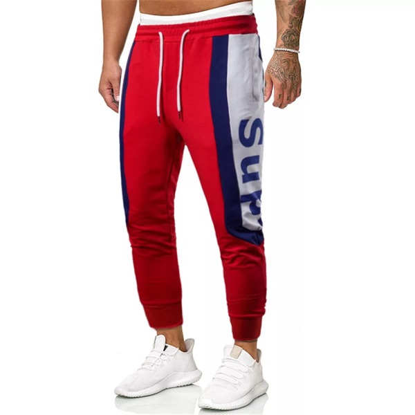 Men's Plus Size Red Track Pants