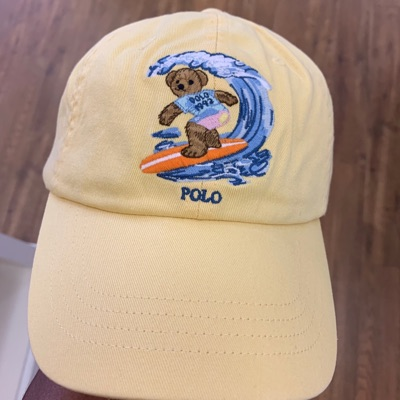 Deadstock Polo Bear Embroidered Surfing Bear Hat