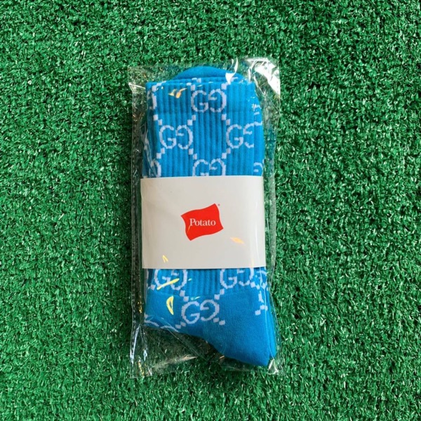 Imran Potato Gucci Socks Blue