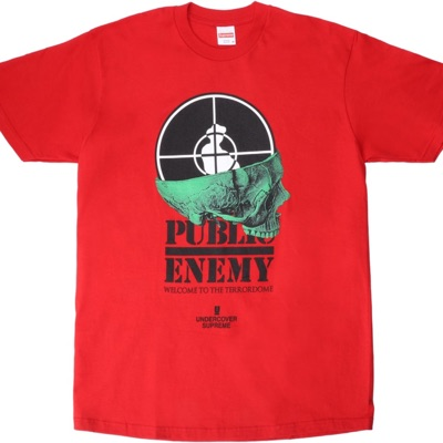 Supreme UNDERCOVER/Public Enemy Terrordome Tee Red