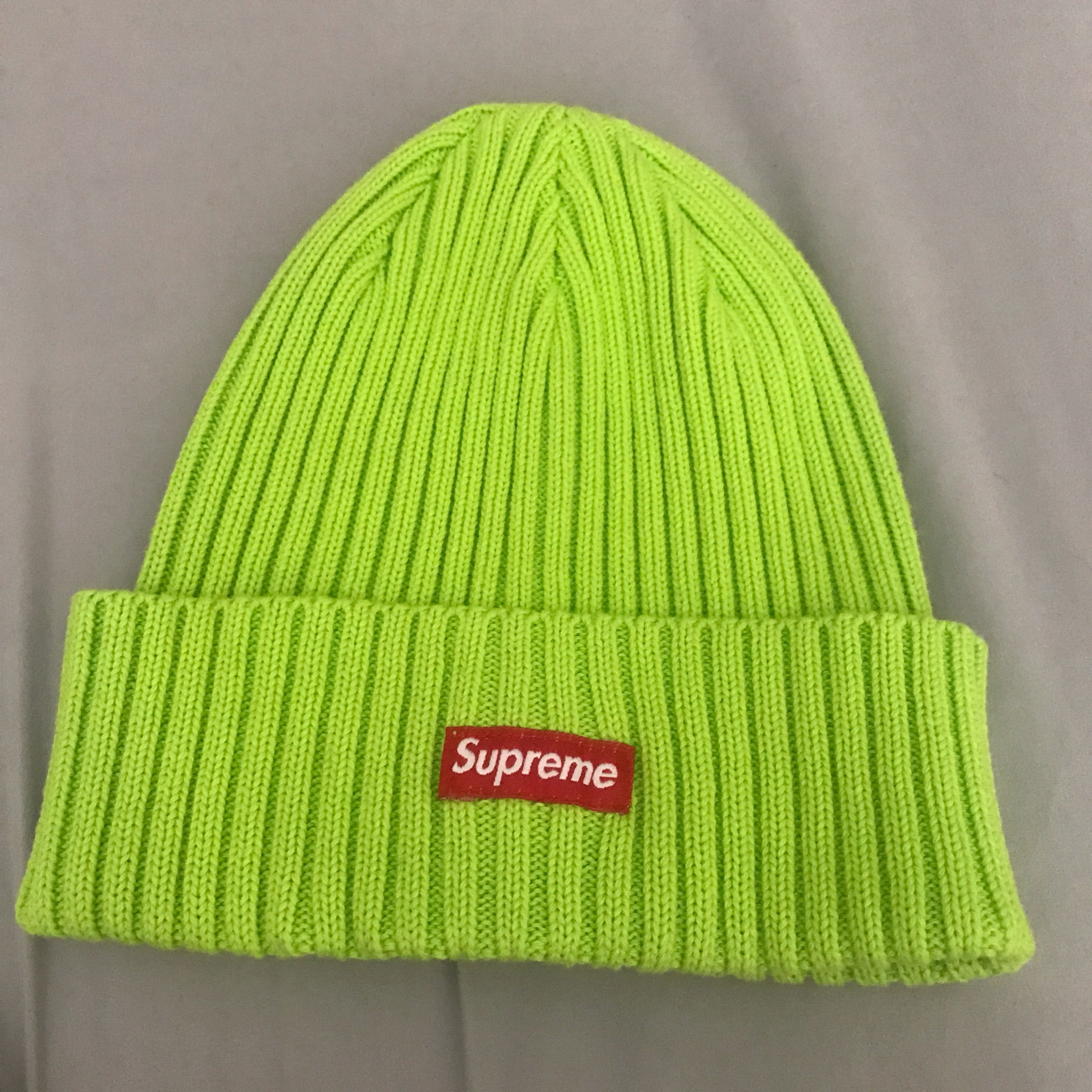 86882995f Supreme Overdyed Beanie Lime