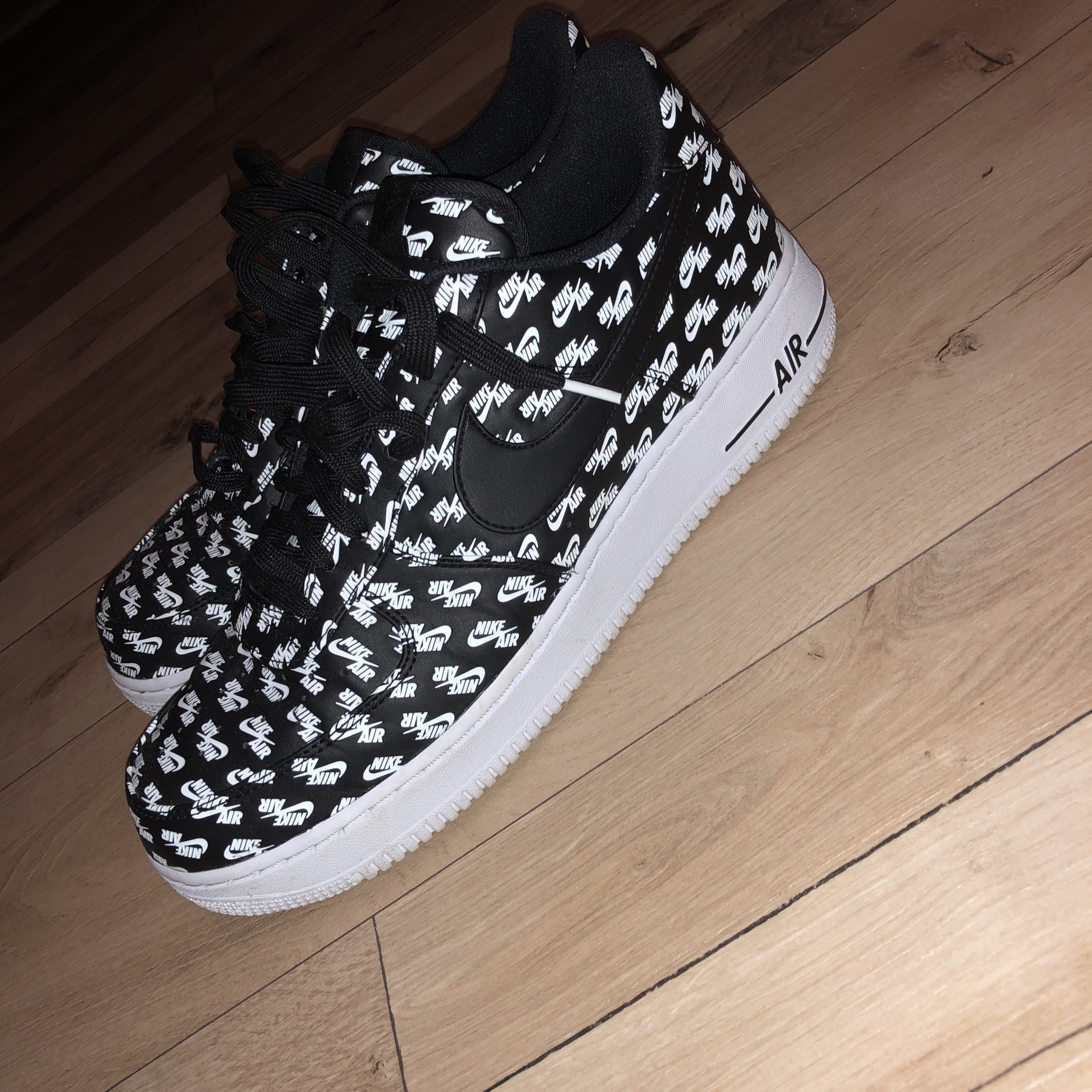 Nike Air Force 1 Low All Over Logo Black