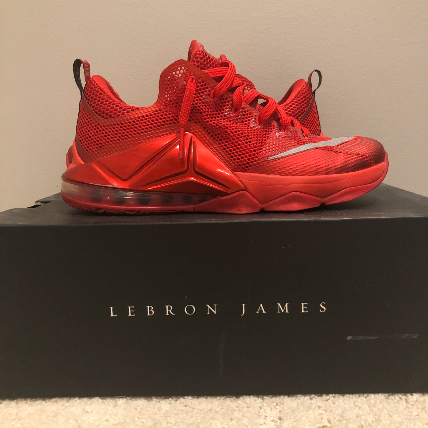 "the latest 19de7 34eac Nike Lebron 12 Low ""University Red"""