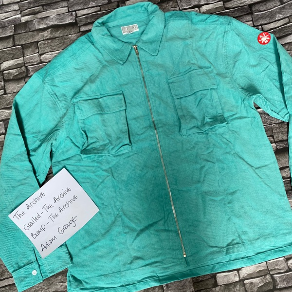 Cav Empt Teal Zip Overshirt