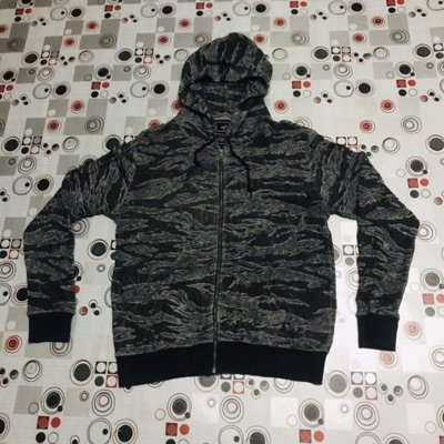 Vintage Alpha Industries Tiger Camo Hoodie Zip Ups