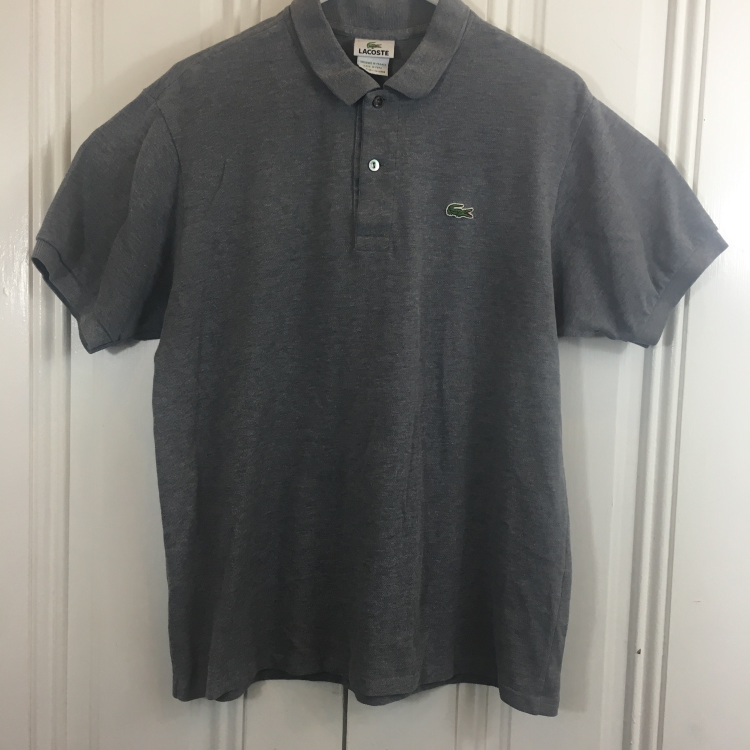 good best prices classic Lacoste Size 5 Gray Polo