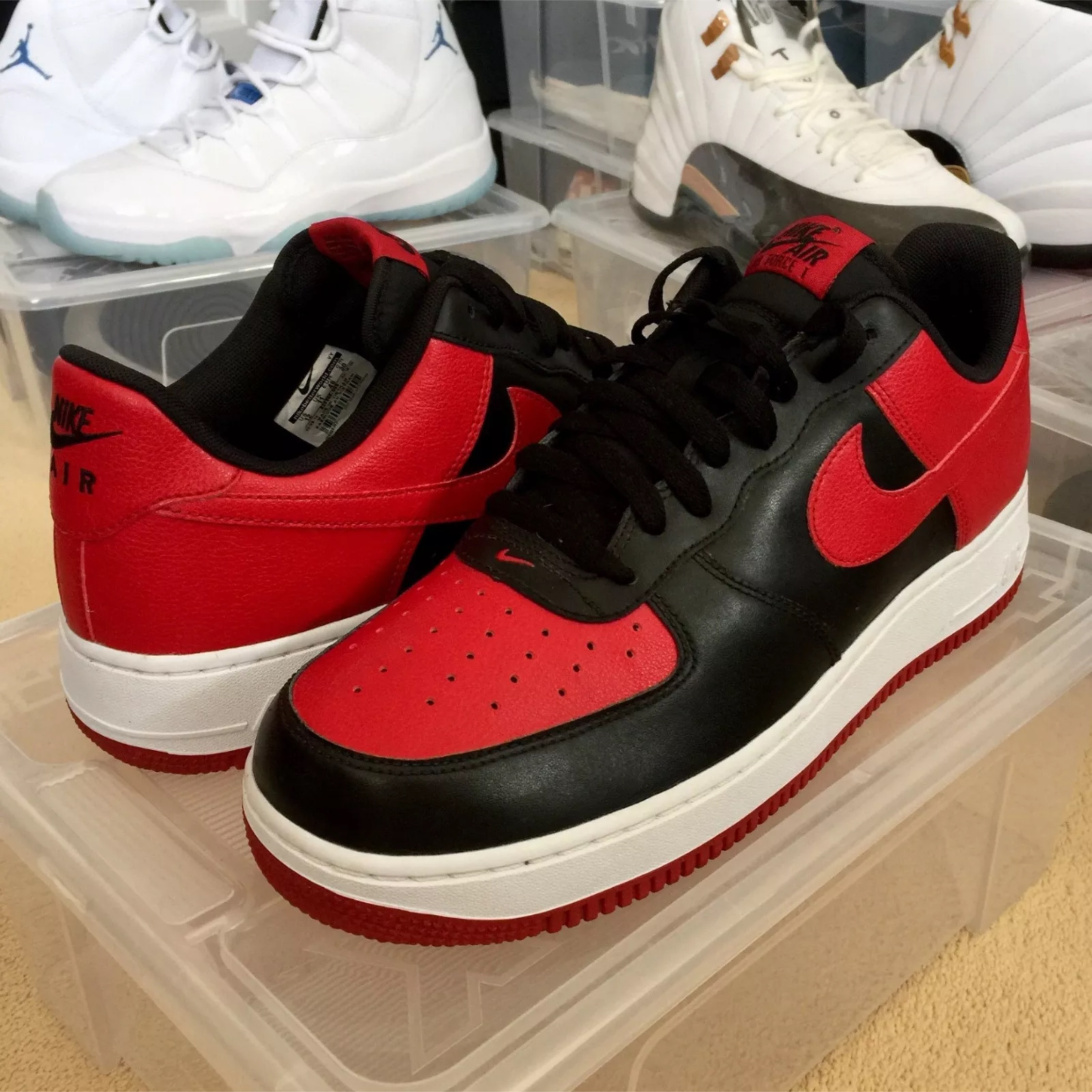 Rare Nike Air Force 1 Bred / Banned