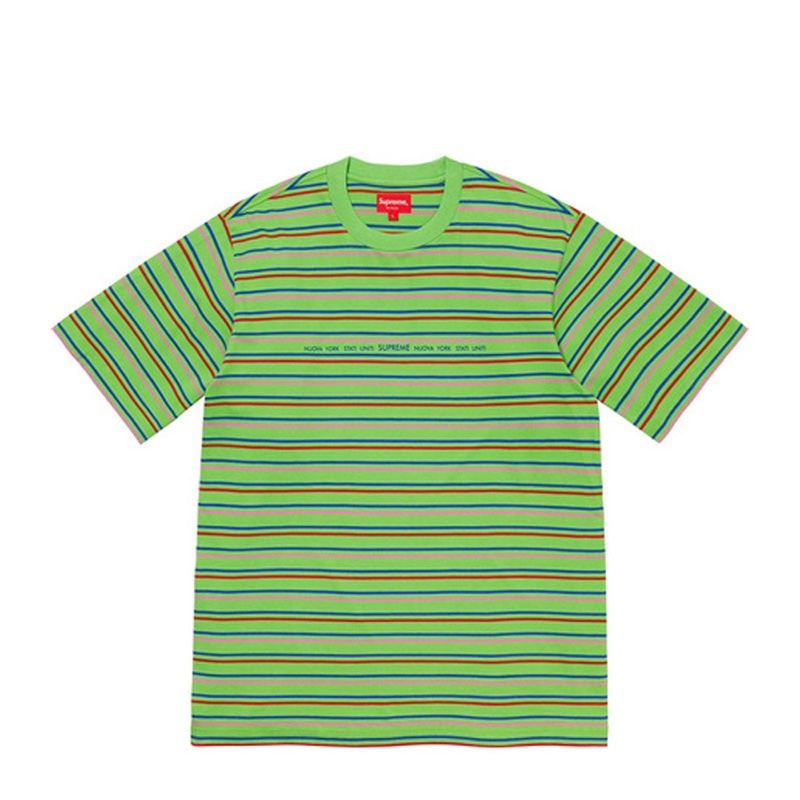 Supreme Stati Uniti Stripe SS Top Green