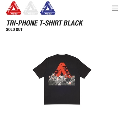 Palace Tri Phone T Shirt White