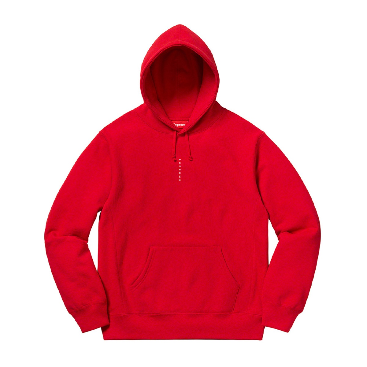 Supreme Micro Logo Hooded Sweatshirt Red