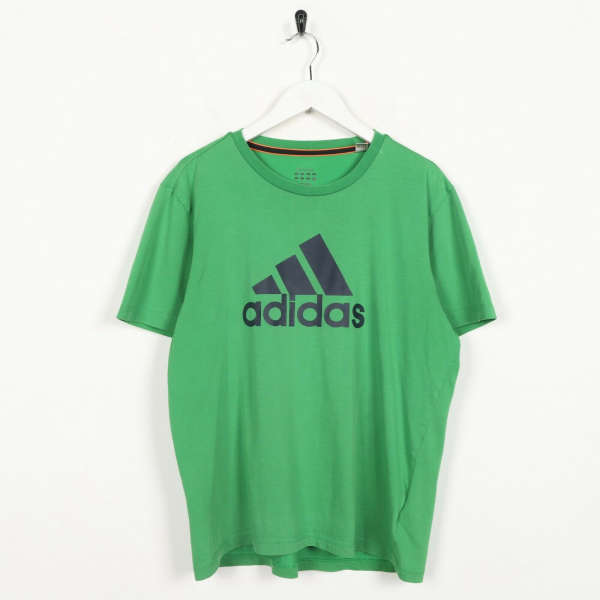 Vintage ADIDAS Big Logo T Shirt Tee Green | Medium M