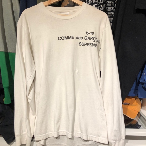 Supreme Comme Des Garcons Long Sleeve Tee White