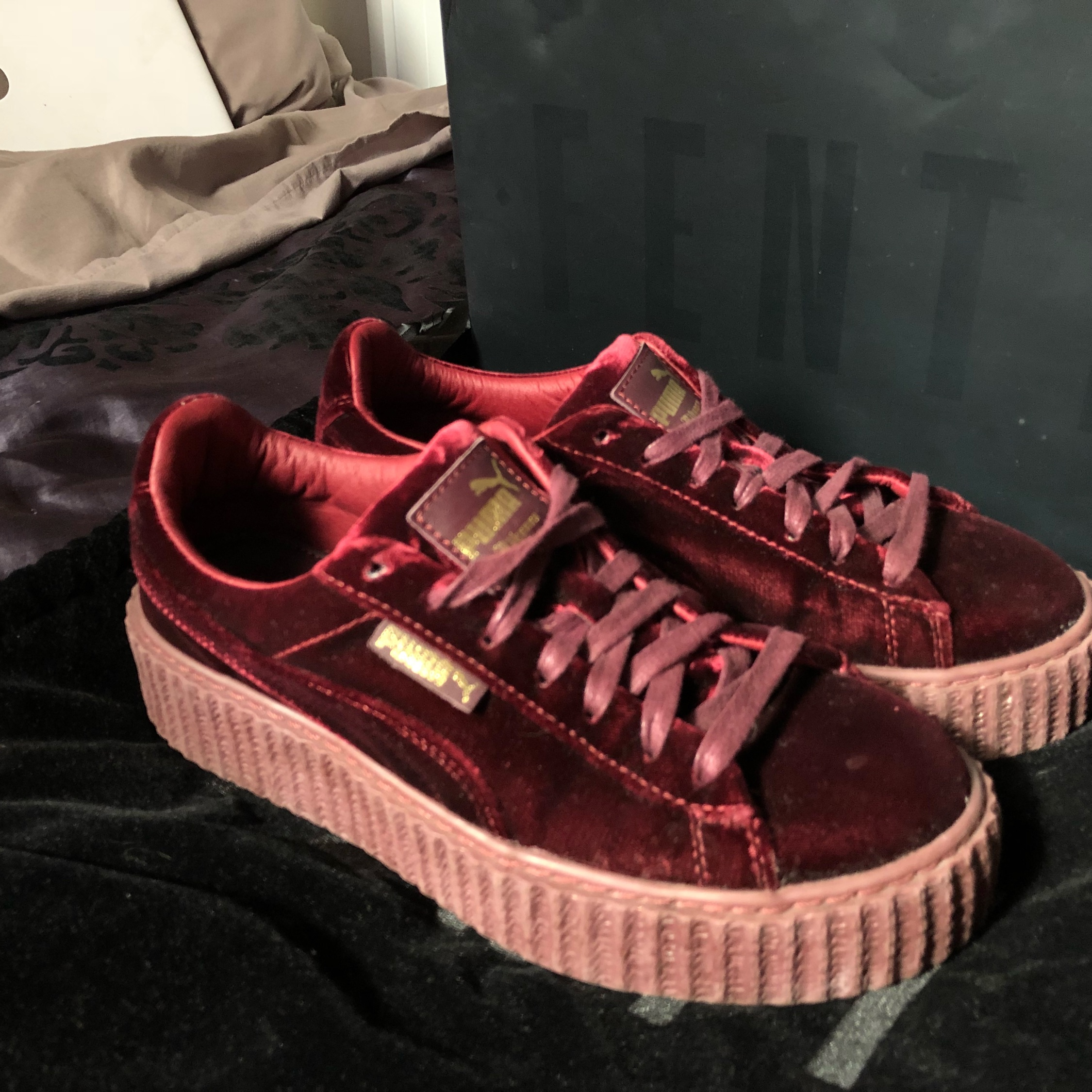 sneakers for cheap ee5da dbf34 Puma X Fenty Velvet Creepers Royal Purple