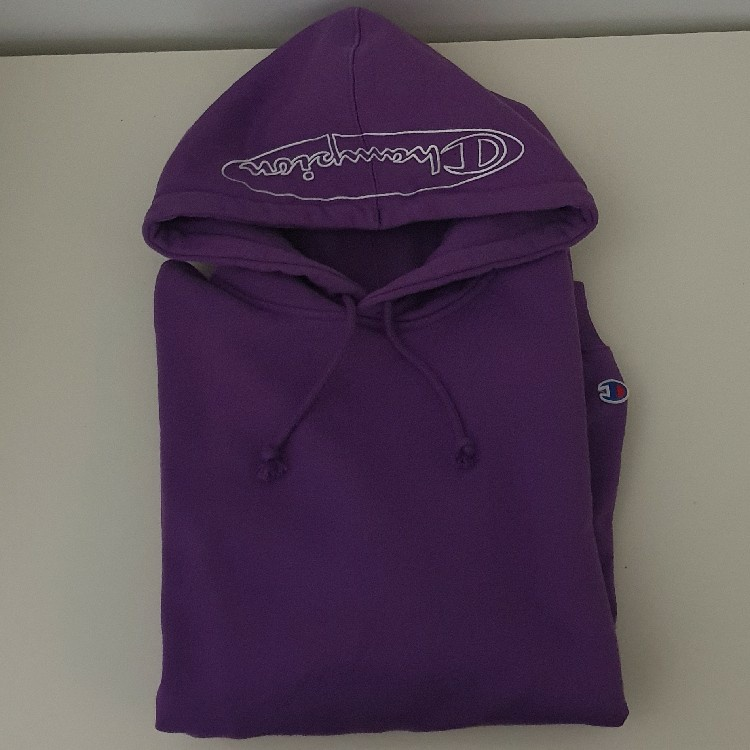 Supreme Champion Outline Hooded Sweatshirt Purple