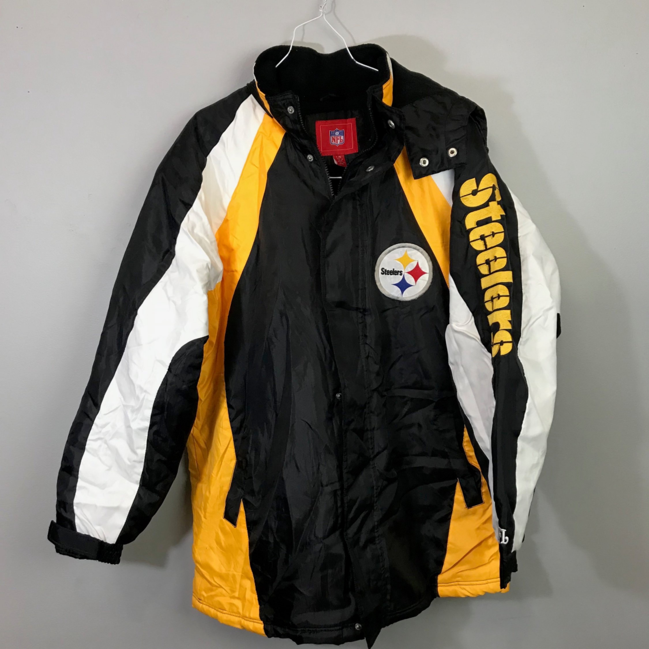 online store d708e 379a2 Vintage 90S Nfl Pittsburg Steelers Jacket