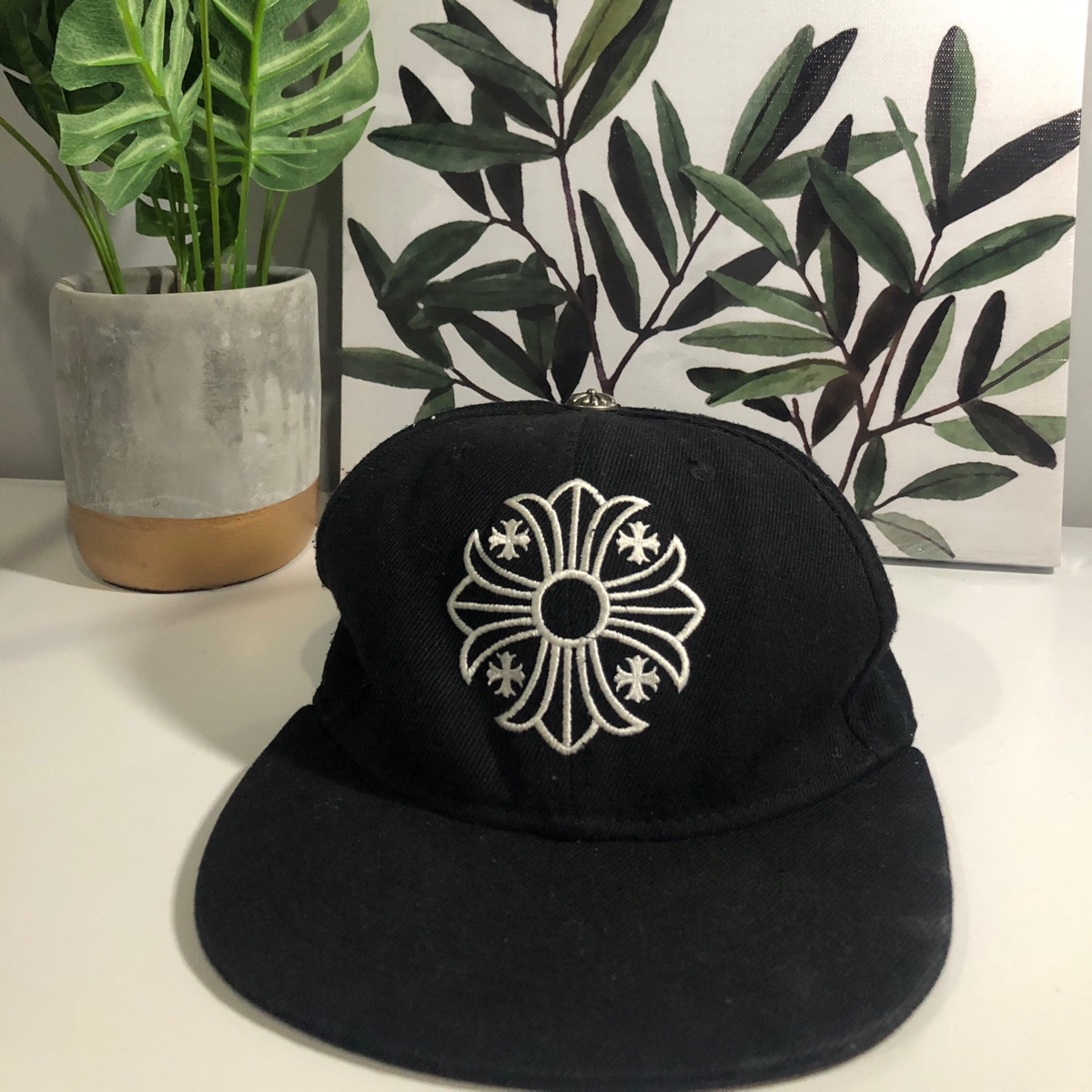 Rare Black Chrome Hearts Cap