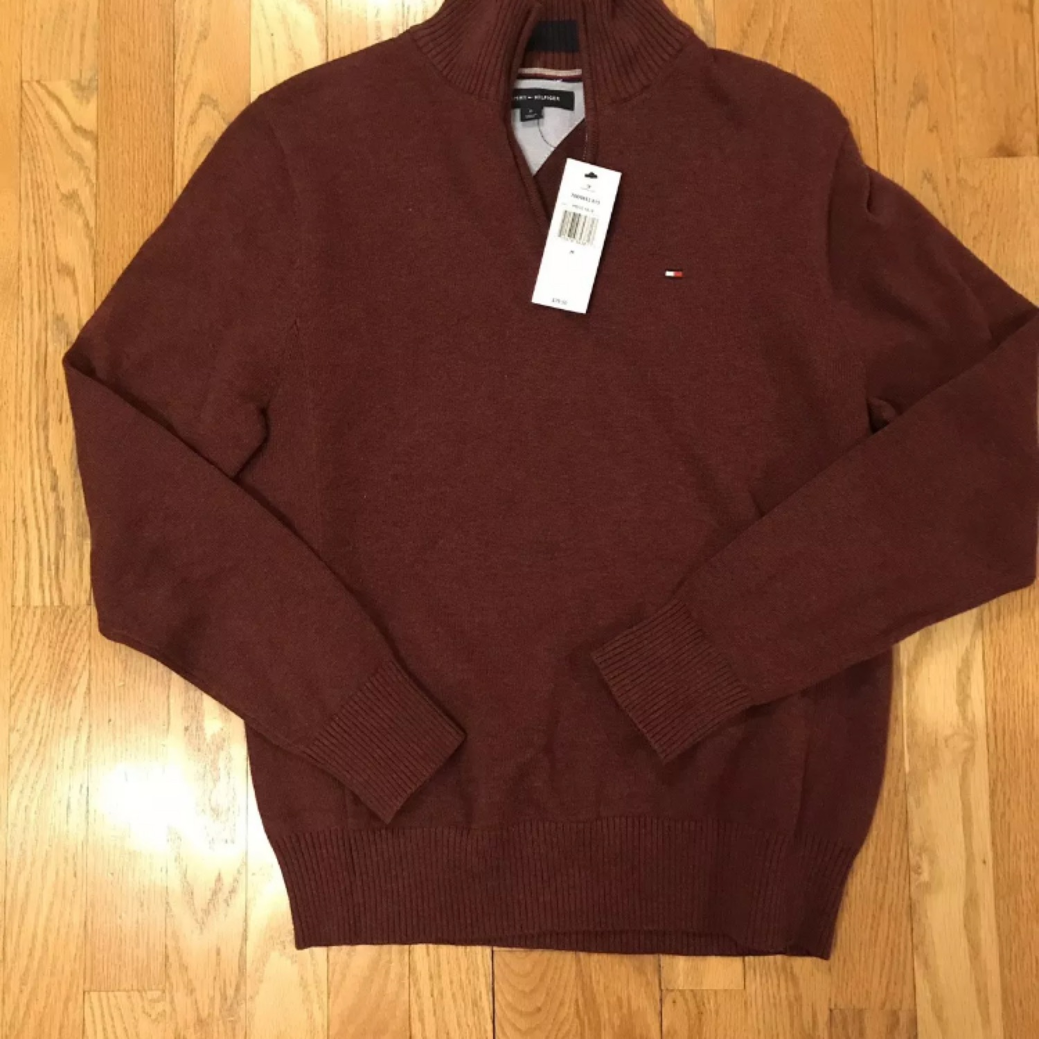 Tommy Hilfiger Mens Mens 1//4 Zip Pullover Sweater Sweater