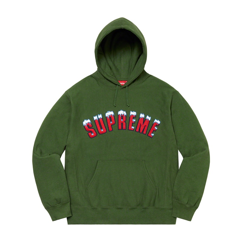 Supreme Icy Arc Hooded Sweatshirt Green