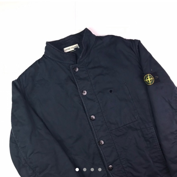 Vintage Stone Island Button Up Quilted Jacket