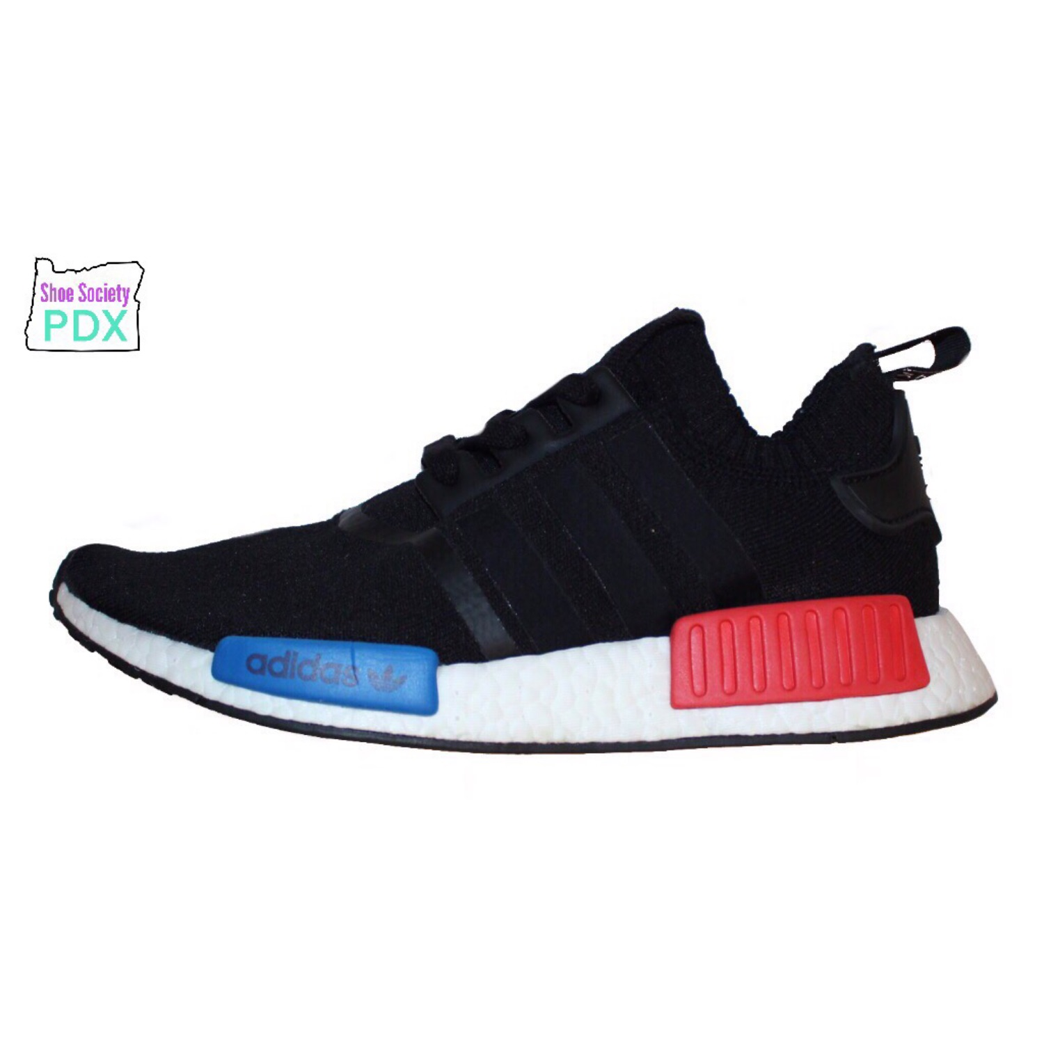 newest 06ba7 76a2c Adidas Nmd R1 Og Core Black Lush Red