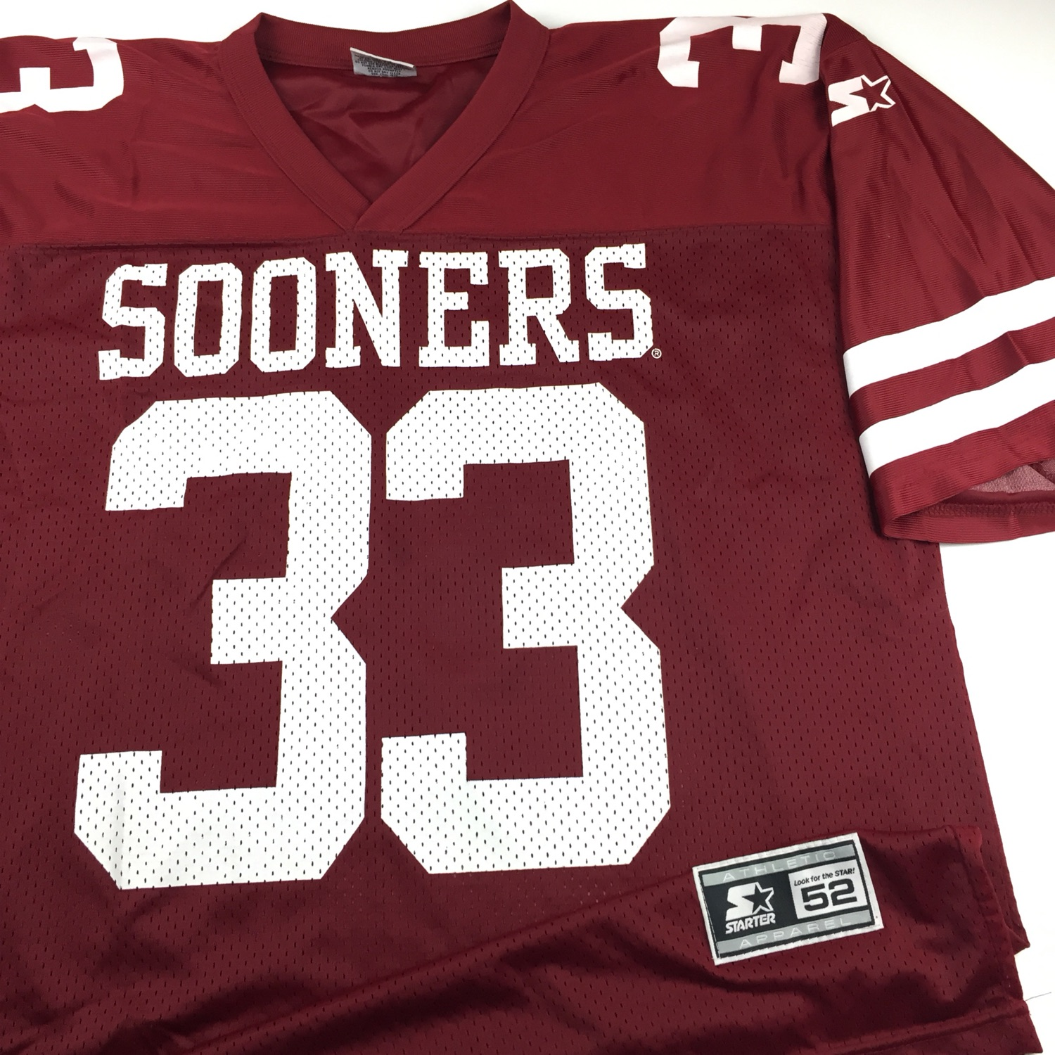 online store f527c f1f91 Vintage Started Oklahoma Sooners Football Jersey